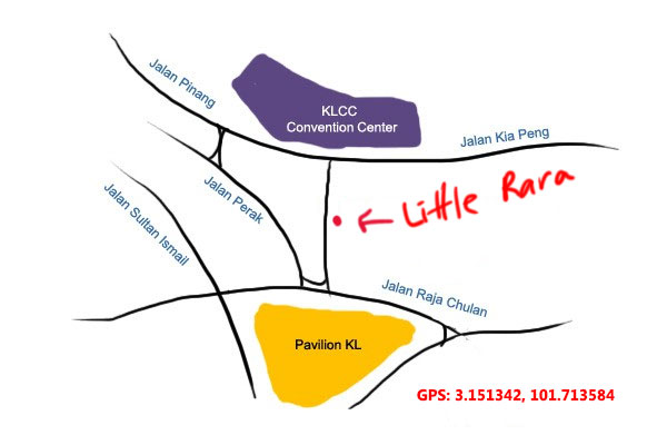 map to little rara, kia peng