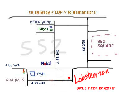 map to Lobsterman at PJ SS2