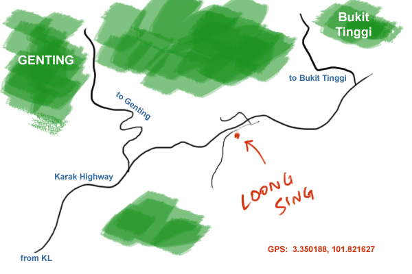 map to Loong Sing at bukit tinggi