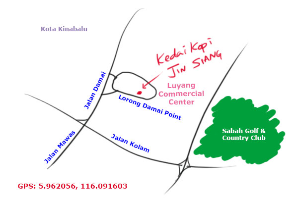 map to Jin Siang prawn mee