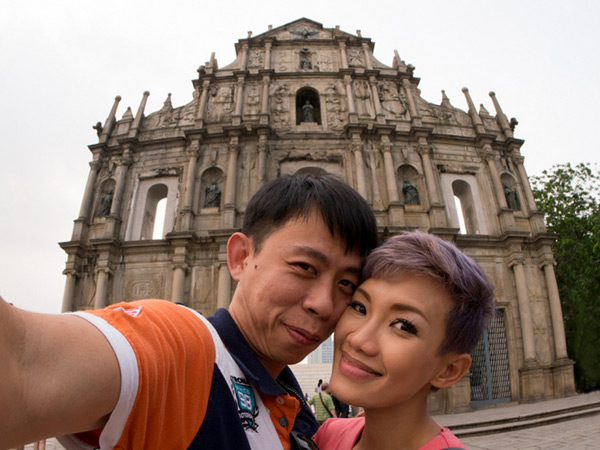 obligatory Macau photo at St. Paul's church