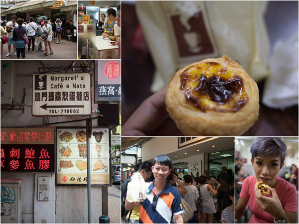 the famous Portuguese egg tart at Margaret's Cafe e Nata
