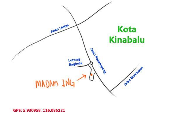 map to Madam Ing fish noodle