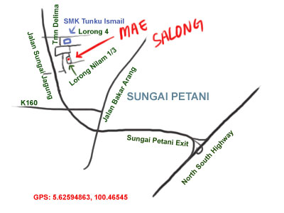 direction map to Mae Salong