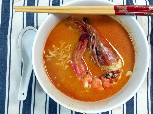 here's my Maggi Royale Penang Seafood Curry, with prawn!