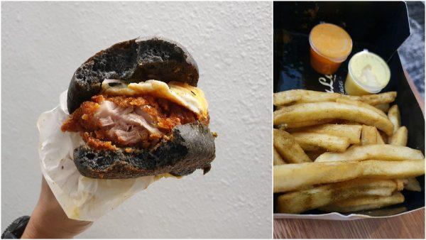 Nasi Lemak Ayam Rendang Burger via GrabFood
