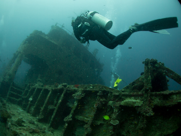 Kudimaa wreck, I always love the ambiance of a wreck dive