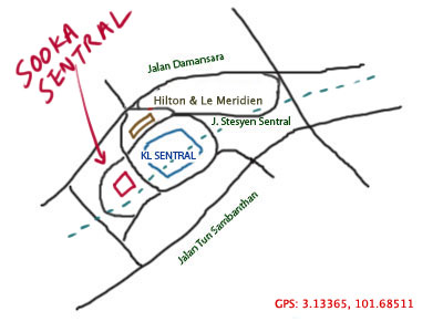 map to Sooka Sentral