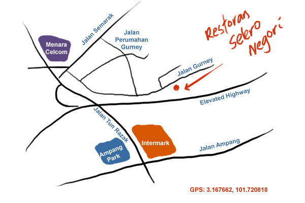 map to Restoran Salero Negori