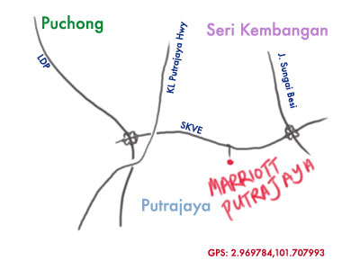 map to marriott putrajaya