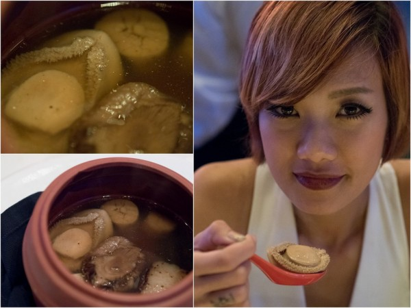 Black Chicken Ginseng Soup with Abalone, Sea Cucumber, Scallops, and Fish Maw