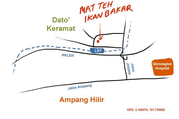 map to dato' keramat ikan bakar