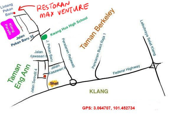 thai style hot pot, Klang Parade map
