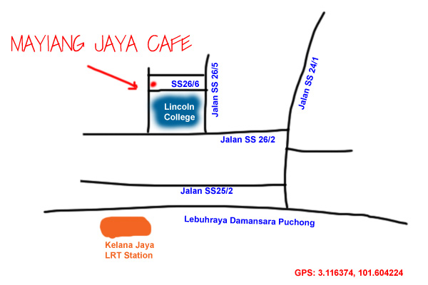map to Mayiang Jaya cafe