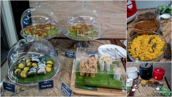 angku, chai kuih, pumpkin cakes, radish cakes, fried fuchuk spring roll
