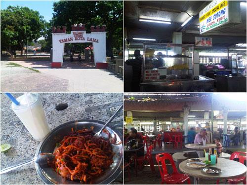 mee sotong at Padang Kota Lama, Penang