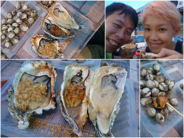 RM 10 for three oysters, RM 6 for those juicy cockles