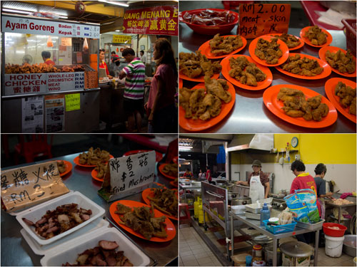famous Menglembu honey chicken stall (shop now)