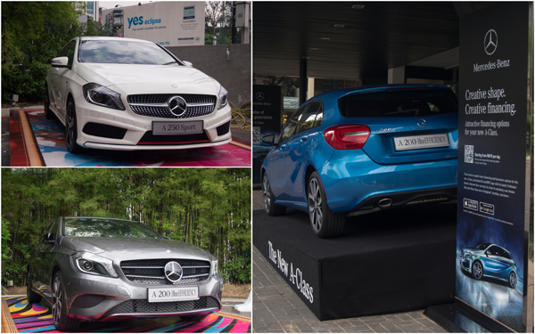 the new Mercedes A-Class - A 250 Sport and A A 200 BlueEFFICIENCY