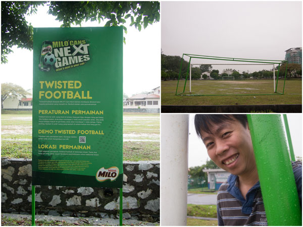 milo cans goalpost at kelana jaya