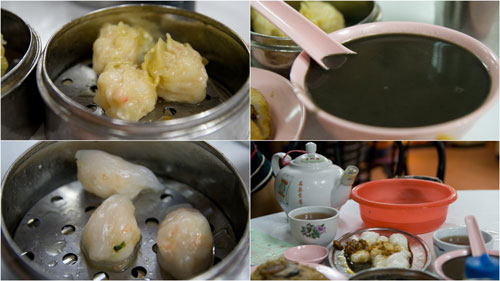 har gao, siu mai, sesame soup, chee cheong fun