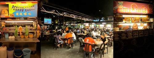 ming tien food court at taman megah
