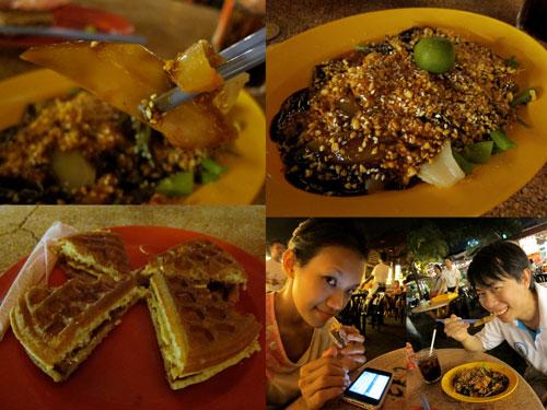 cuttlefish with kangkung, waffle, haze and KY
