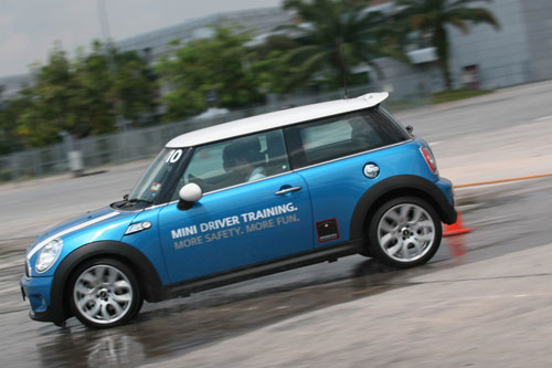 Mini Cooper S - oversteering training