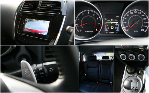 interior shots of Mitsubishi ASX