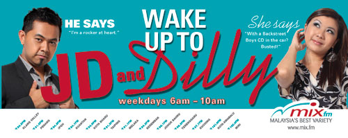 wake up to JD & Dilly, weekdays 6am to 10am