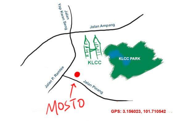 mosto KLCC map