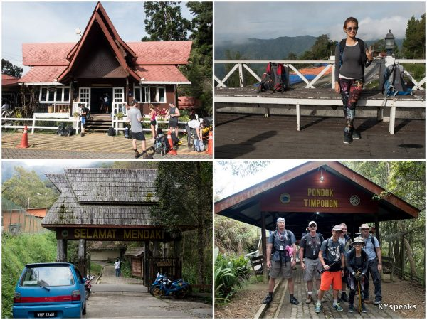 Kinabalu Park entrance & Pondok Timpohon, our starting point