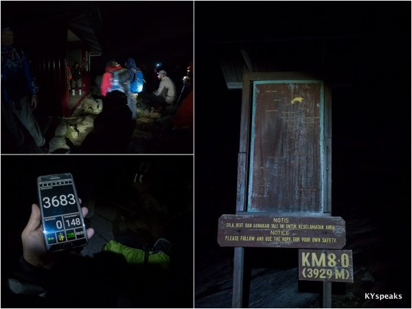 by 4:53 am we reached KM 8.0, the last stop