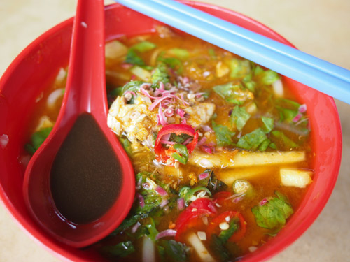 penang asam laksa from Mt. Erskine hawker center