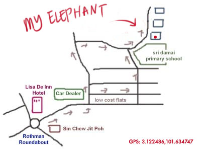map to My Elephant at Seksyen 17