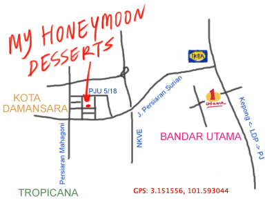 map to My Honeymoon Dessert at Kota Damansara