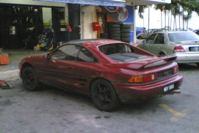 my current ride, Toyota MR2 SW20