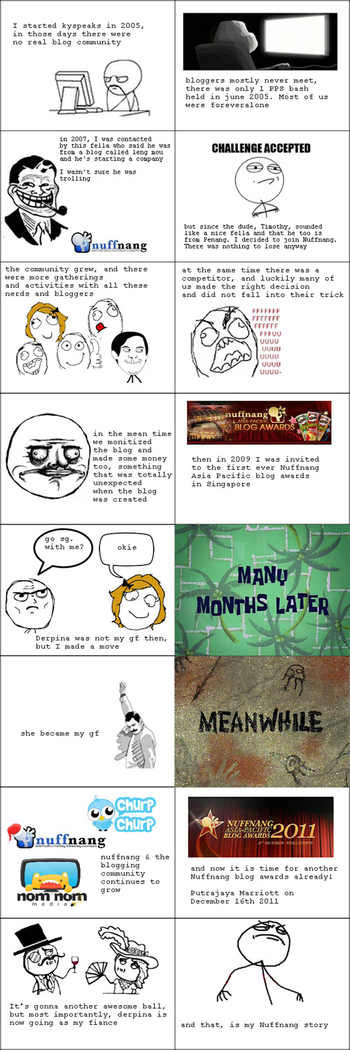My Nuffnang Story in Rage Comic