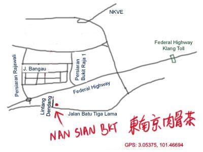 map to Kedai Makanan Nan Sian