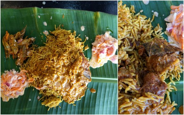 bamboo briyani with lamb