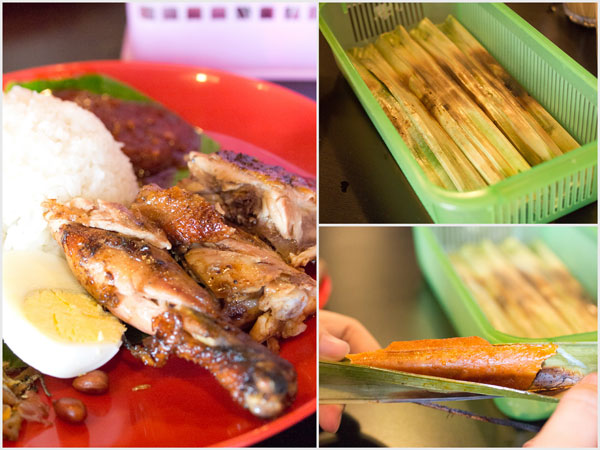 they have nasi lemak ayam too, and the otak-otak is pretty good