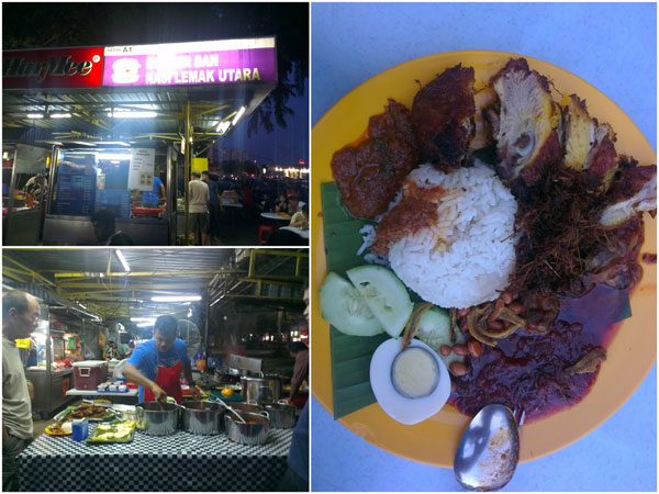 Nasi Lemak Utara, sharing the same stall with Burger Wan