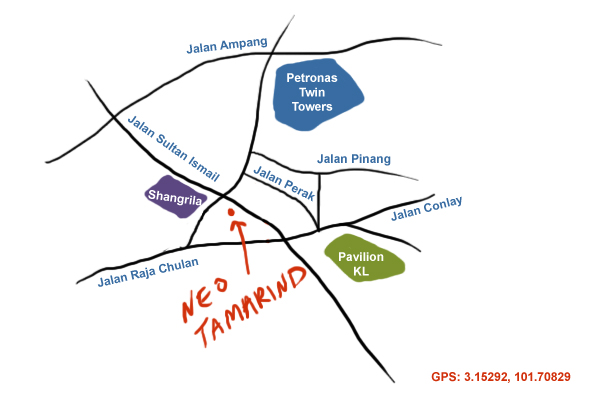 map to Neo Tamarind & Tamarind Hill