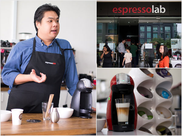 Barista trainer Leong, owner of espresso lab