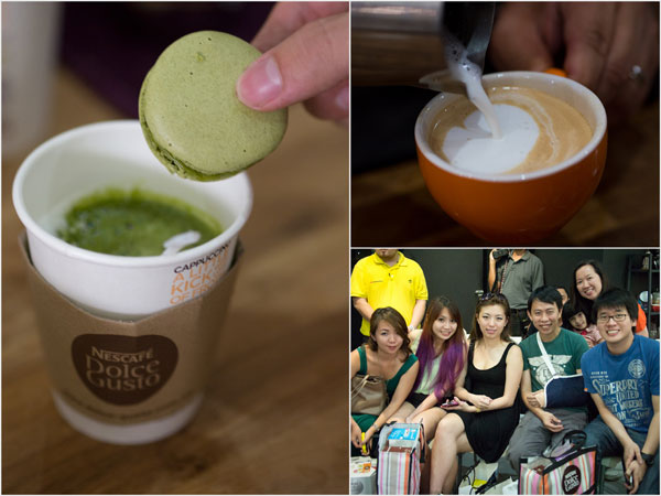 we had a bit of food & coffee (and tea) pairing, latte art, and a whole loads of fun