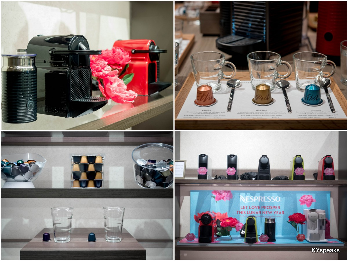 Nespresso machines, capsules, and merchandise