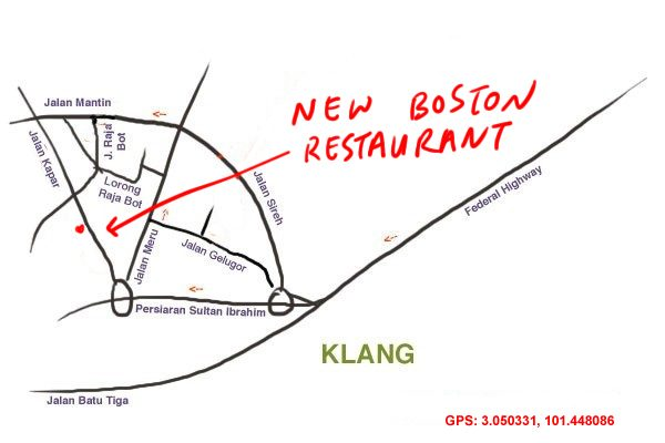 map to New Boston, Klang