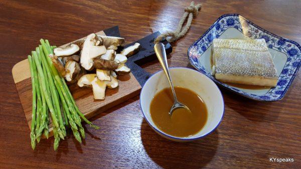 asparagus and mushroom as sides