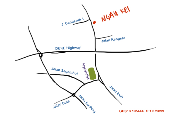 map to Ngau Kei jalan ipoh