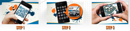 3 easy steps to play the Nissan X-Gear app in 3D